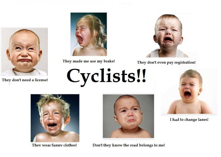 Whining about Cyclists