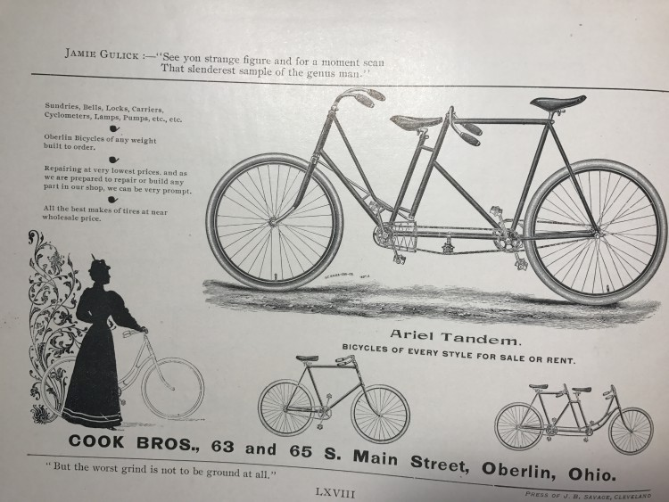 1894 Bicycle Cook Bros Tandem