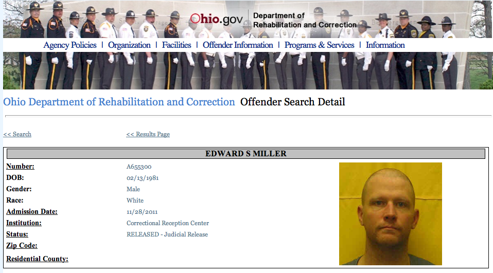 Inmate Ed Miller's page